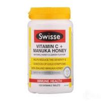 Swisse 维生素VC + 麦卢卡蜂蜜 120片 咀嚼片