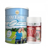 【包邮】澳洲 OZ Farm 专业老年配方奶粉 900g + Healthycare HC 辅酶Q10 150mg 100粒