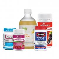 【包邮】Bio-E 柠檬蜂蜜液体酵素 500ml(1)+ 女性综合维生素(1) + 好健康 高含量葡萄籽精华55000含量 120片(1) + 好健康蔓越莓60000mg(1) + 女性益生菌(1)