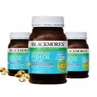 【3瓶包邮】Blackmores 澳佳宝400粒无腥mini深海鱼油(小粒好吞服)